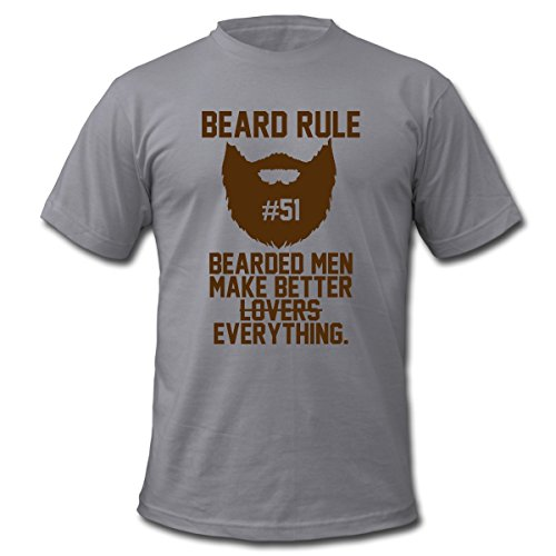 Spreadshirt Men's Beard Rule T-Shirt, slate, XL