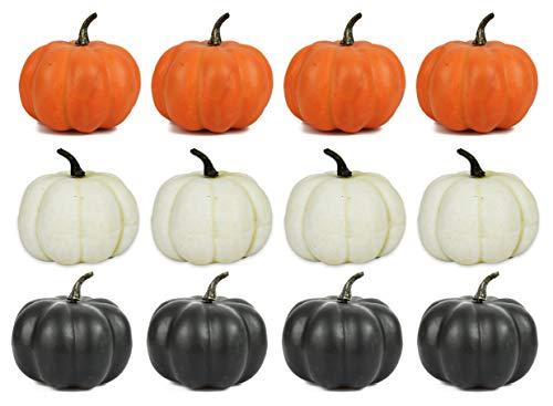 (Set of 12 Halloween Decorative Pumpkins! 4.25