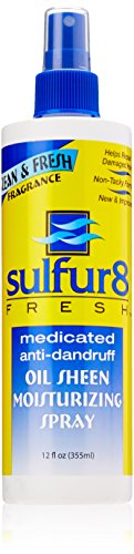 Sulfur8 Fresh Oil Sheen Moisturizing Spray, 12 Ounce