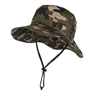 Vbiger Outdoor Sun Cap Camouflage Bucket Mesh Boonie Hat Hunting Cap