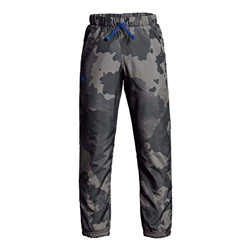 Under Armour Boys Phenom Printed Pants, Charcoal (019)/Royal, Youth -