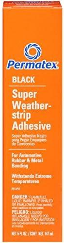 Permatex 81850-12PK Black Super Weatherstrip Adhesive 5 oz. (Pack of 12) [並行輸入品]