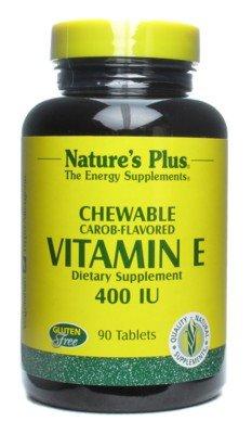 Nature Plus - Vitamine E naturelle Caroube aromatisés 400 UI - 90 comprimés à croquer