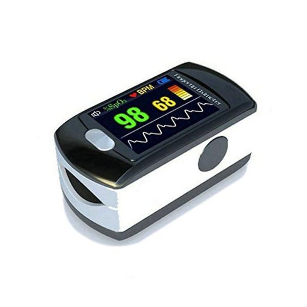 BLYL Monitor de Saturación de Oxígeno CMS-50E y Medición de la Frecuencia Cardíaca con Pantalla OLED a Todo Color para… 2