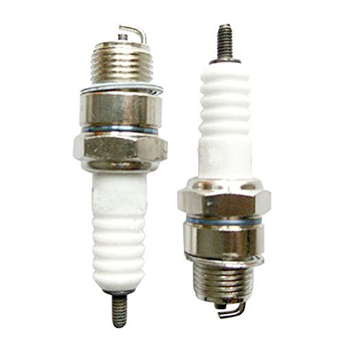 JRL 2pcs Spark Plug For 49cc 60cc 66cc 80cc 2 Stroke Engine Motorized Bicycle Bike