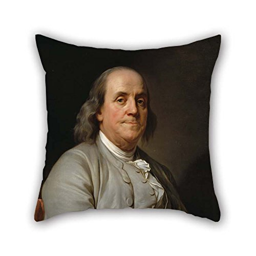 TonyLegner Oil Painting Joseph Siffrein Duplessis - Benjamin Franklin Throw Pillow Covers Best for Gril Friend Festival Car Seat Bf Bar Festival 20 X 20 Inches / 50 by 50 cm(2 Sides) ()