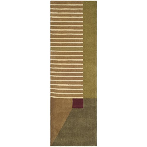 10' Rodeo Drive Collection (Safavieh Rodeo Drive Collection RD618A Handmade Modern Abstract Multicolored Wool Runner (2'6