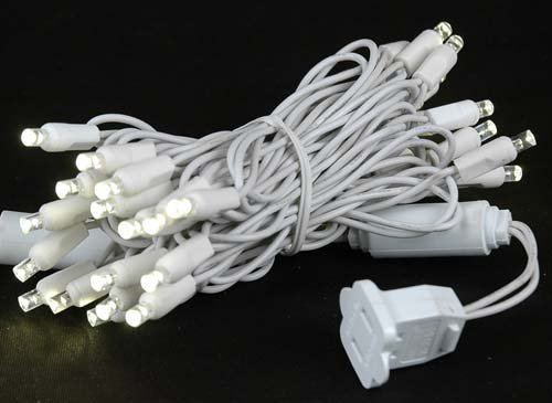 White Wire LED Christmas Lights: Amazon.com