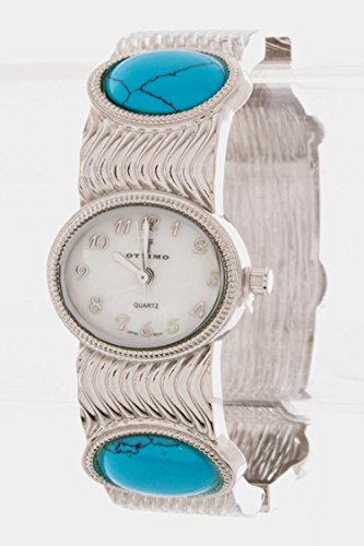 Costume Jewellery Watches (Trendy Fashion Jewelry Antique Stone Watch By Fashion Destination | (Turquoise))