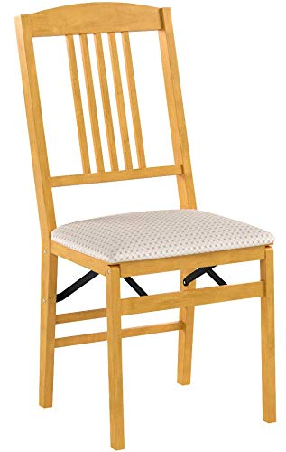 Stakmore Simple Mission Folding Chair Finish, Set of 2, Oak by MECO