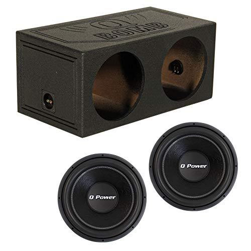 (Q Power QBomb 15 Inch Dual Sealed Car Audio Subwoofer Sub Box Enclosure QBOMB15SQ-POWER QPF15 15