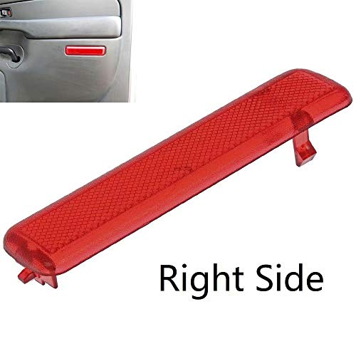 KingFurt Rear Right Side Trim Panel Door Reflector for Chevy Avalanche Suburban GMC Yukon Sierra Trucks & SUVs Replaces 15183156