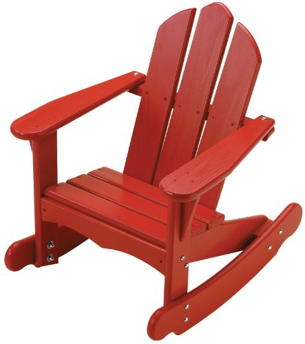 Little Colorado Personalized Child's Adirondack Rocking Chair- Red ()