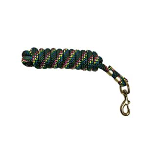 Rose America 47193 BMB Poly Horse Lead Rope, 5/8-Inch by 10-Feet, Forest Green Confetti
