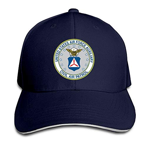 United State Air Force Auxiliary Civil Air Patrol Seal Women's Baseball Hat Retro Sun Visor Trucker Hat