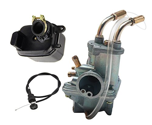 Choke Housing (HIFROM Replacement Carburetor Carb With Air Filter Cleaner Box Housing Assembly and Choke Cable for Yamaha PW50 PW 50 Yzinger 1981-2009 Motorcycle)