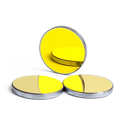 Cloudray 3PCS CO2 Laser Mirrors Si Material Dia.25mm 0.98inch, Thk 3mm 0.12inch for CO2 Laser Engraver Cutter by Cloudray