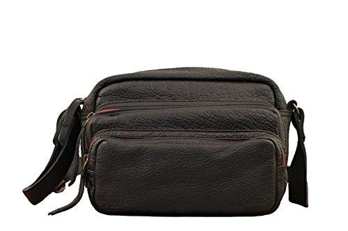 LE CHARLIE Negro bolso de cuero de estilo vintage PAUL MARIUS