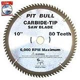 "10"" x 80 Tooth Carbide Blade Circular Saw"