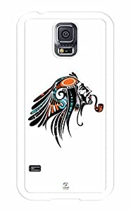 iZERCASE Native American Smoker Pipe RUBBER Samsung Galaxy S5 Case - Fits Samsung Galaxy S5 T-Mobile, AT&T, Sprint, Verizon and International