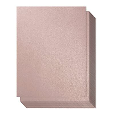 96 Count Metallic Mauve Stationery Paper / Invitation Paper for Writing, Scrapbooking, Letters, Certificates, Crafts, 8.5 x 11 Inches