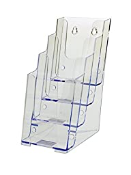 Deflecto 77701 Four-tier multi-compartment small size docuholder, 4-7/8w x 8d x 10h, clear