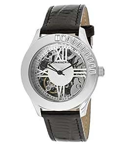 BCBG Leather Skeleton See Through Dial Women's Watch #BCBG6431