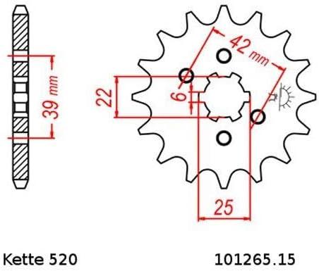 Kettensatz Geeignet Für Xl 250 K 75 78 Kette Rk 520 H 100 Offen 15 45 Auto