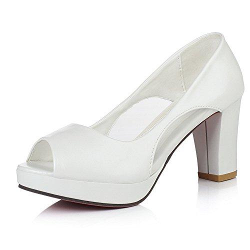 35 AN Donna DIU01219 Ballerine Bianco White EU WqpX0qac
