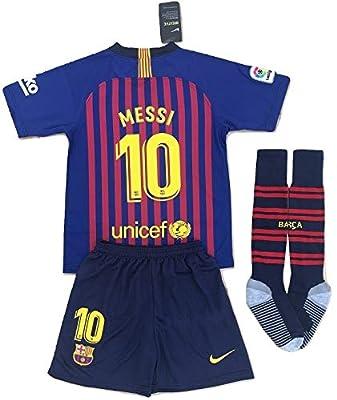 Youths 2019 Messi #10 Barcelona Home Soccer Jersey & Socks Set Blue/Red