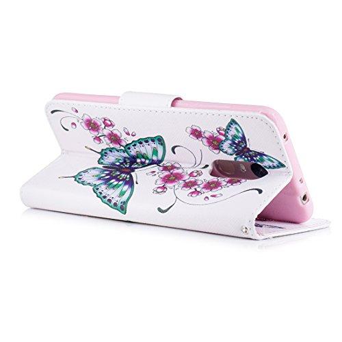Hozor Support avec Flip Fermeture PU Butterflies Redmi étui avec en pour magnétique en Xiaomi Peint 5 aérosol Portefeuille Fente de d'impression Plus Carte Cas Cuir Conception Protection r4ravcZ