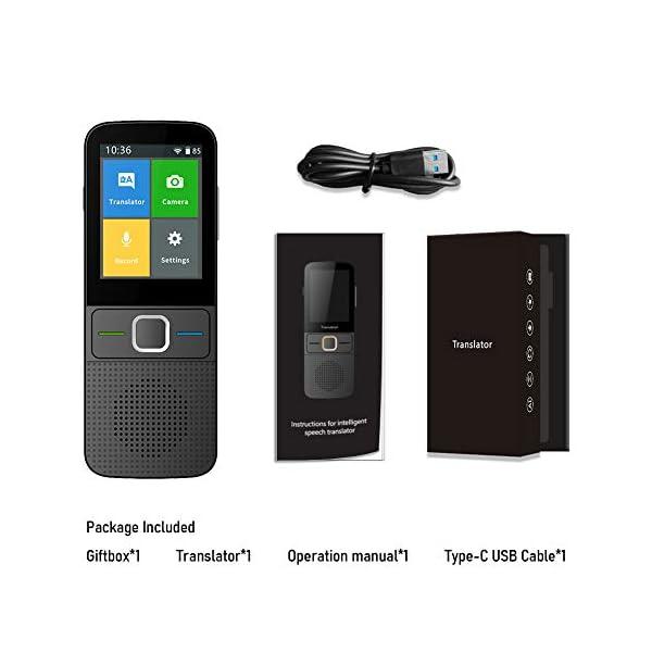 Language-Translator-Device-Support-138-Plus-Languages-Two-Way-WiFiHotspotOffline-Portable-Voice-Translator-Device-24inch-Touch-Screen-Camera-Translation-Black