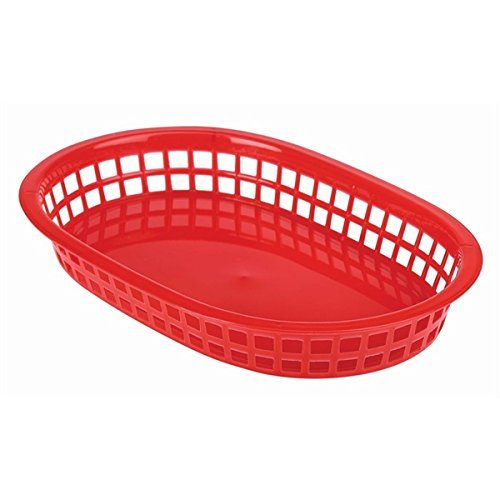 Fast Food Basket Red 27.5X17.5cm - Quantity 6 Genware