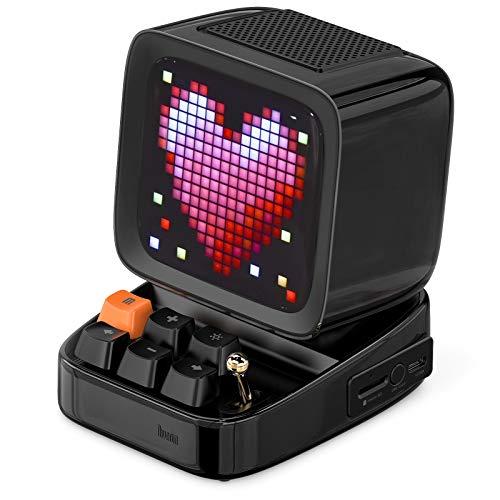 DIVOOM ACDIVDITBLK Divoom Ditoo Pixel Art Portable Bluetooth Speaker with App Controlled 16X16 LED Front Panel Black - Black (Pack of1)