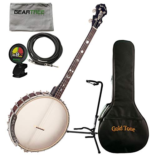 Goldtone IT-17 Irish Tenor Banjo w/Bag, Stand, Cloth, Tuner, and Cable
