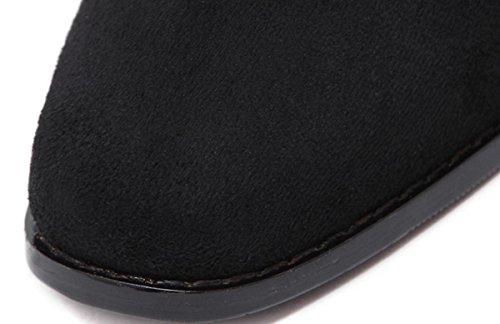 Ruvida moda retro donne YCMDM è con-tacco alto scarpe stivali Singolo , black , 37