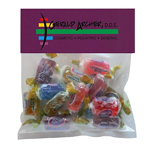 Candy Gift Pack-Jolly Ranchers with CUSTOMIZED Business Card Magnet in Small Header Pack- BULK Quantities-1000 per…