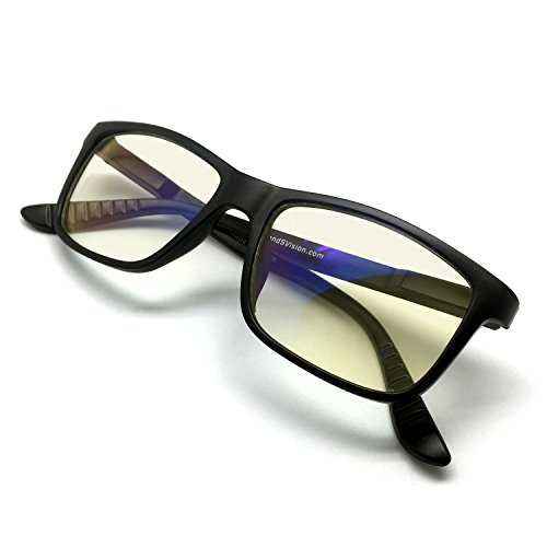 J+S Vision Blue Light Shield Computer Reading/Gaming Glasses - 0.0 Magnification - Anti blue light 100% UV protection Low color distortion, classic matte black frame - Essential Gaming - Blue Glasses Light Computer Filter
