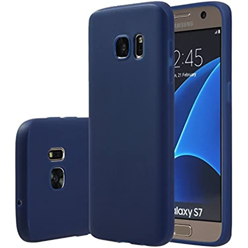 Galaxy S7 Case, E LV Galaxy S7 Case Cover - E LV Soft Slim Fit Flex Shock-Absorption Bumper Case for Samsung Galaxy S7 with 1 E LV Microfiber - DARK BLUE Sales