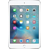 Apple New iPad Mini 4 with 7.9 Retina Display, 128GB SSD, 2GB RAM, Dual-Core A8 Chip, Quad-Core Graphics, Wi-Fi, MIMO, Bluetooth, iOS 9, Silver