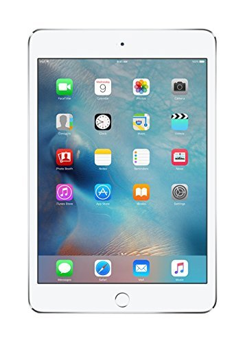 New Apple iPad Mini 4 with 7.9'' Retina Display, 128GB SSD, 2GB RAM, Dual-Core A8 Chip, Quad-Core Graphics, Wi-Fi, MIMO, Bluetooth, Apple iOS 9, Silver by Apple