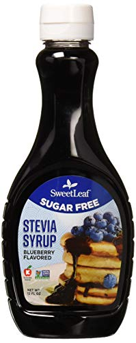 (SweetLeaf Sugar-Free Stevia Syrup, Blueberry,12 Ounce)
