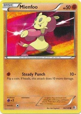 Pokemon - Mienfoo (86/149) - BW - Boundaries Crossed (Pokemon Card Mienfoo)