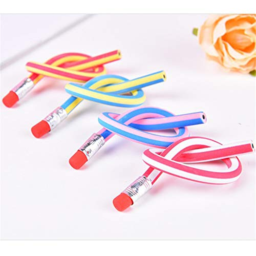Hellosay Colorful Magic Flexible Soft Pencil With Eraser for Children Writing Gift (30x Pencils)