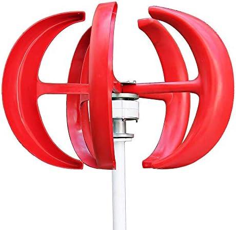 コントローラと風力タービン100W / 200W / 300W 12V / 24V風力タービン発電レッドランタン垂直風力発電機5枚のブレード