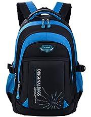 Schulrucksack Jungen Teenager, Fanspack Schulranzen Jungen Rucksack Jungen Teenager Grau Backpack Rucksäcke School Bag Schultasche Tasche Travel Sport Outdoor Rucksack für Schüler
