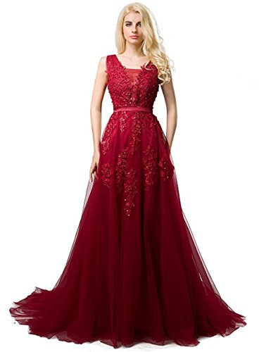 (Ladies Red Carpet Evening Wearing Dress Corset Back Tulle Long Dance Prom Party Dress)