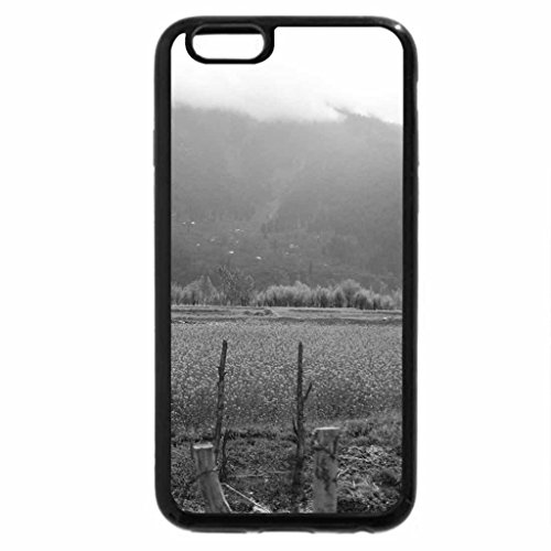iPhone 6S Case, iPhone 6 Case (Black & White) - Beautiful Mustard crops on the way