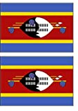2 Swaziland Flag Stickers Decal Bumper Window Laptop Phone Auto Boat Wall