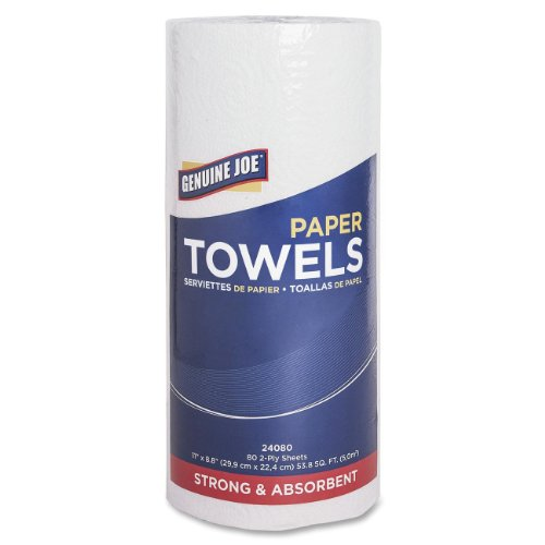 Genuine Joe 2-Ply Household Roll Paper Towels (Pack of 30)
